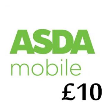 £10 Asda Mobile Top Up Voucher Code