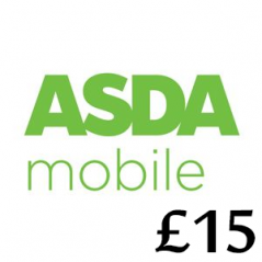 £15 Asda Mobile Top Up Voucher Code
