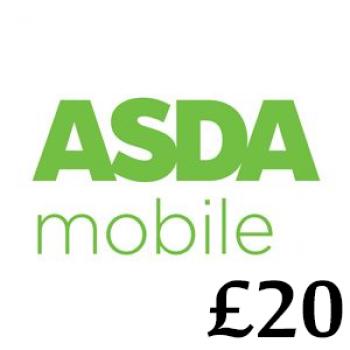 £20 Asda Mobile Top Up Voucher Code