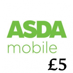 £5 Asda Mobile Top Up Voucher Code