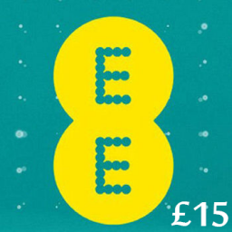 £15 EE Mobile Top Up Voucher Code