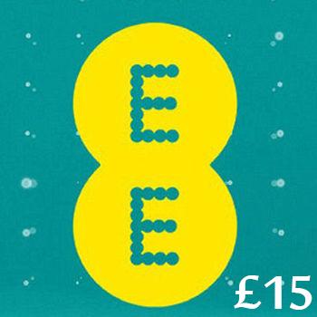 £15 EE Mobile Top Up Voucher Code