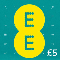 £5 EE Mobile Top Up Voucher Code