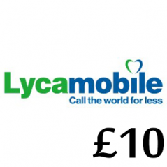 £10 Lycamobile Top Up Voucher Code