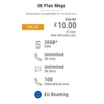 £20 Lycamobile Top Up Voucher Code