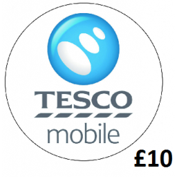 £10 Tesco Mobile Top Up Voucher Code