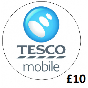 10 Tesco Mobile Top Up Voucher Code - To Email - PayPal