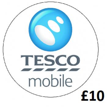 £10 Tesco Mobile Top Up Voucher Code