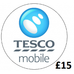 £15 Tesco Mobile Top Up Voucher Code
