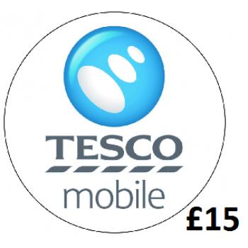 £15 Tesco Mobile Top Up Voucher Code