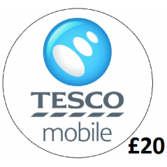 £20 Tesco Mobile Top Up Voucher Code