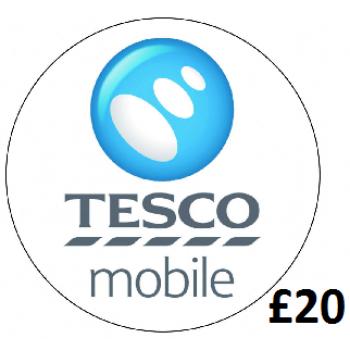 £20 Tesco Mobile Top Up Voucher Code