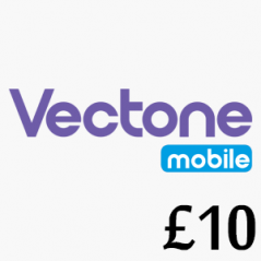 £10 Vectone Mobile Top Up Voucher Code