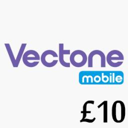 £10 Vectone Mobile Top Up Voucher Code