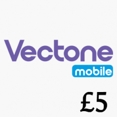 £5 Vectone Mobile Top Up Voucher Code