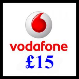 £15 Vodafone Mobile Top Up Voucher Code