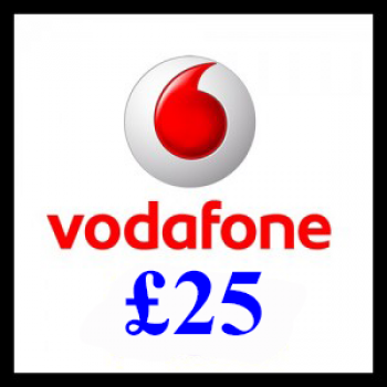 £25 Vodafone Mobile Top Up Voucher Code