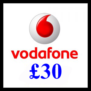 30 Vodafone Mobile Top Up Voucher Code - To Email - PayPal