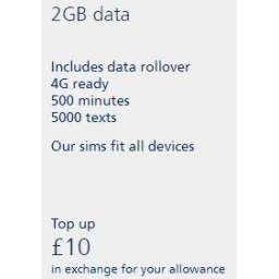 £10 O2 Mobile Top Up Voucher Code