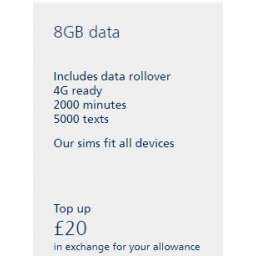 £20 O2 Mobile Top Up Voucher Code
