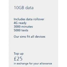 £25 O2 Mobile Top Up Voucher Code