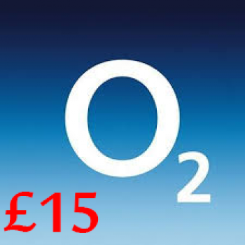 £15 O2 Mobile Top Up Voucher Code