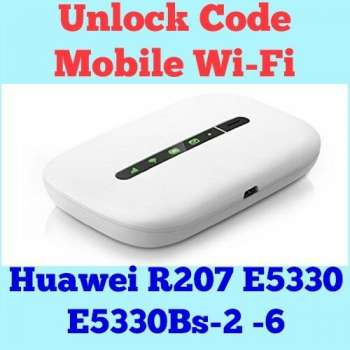 Unlock Code For Huawei R207 E5331 E5330 E5330Bs-2-6 Mobile Wi-Fi Instantly