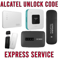 ALCATEL MODEM/ROUTER SIM NETWORK UNLOCK CODE 100% SAFE & ACCURATE