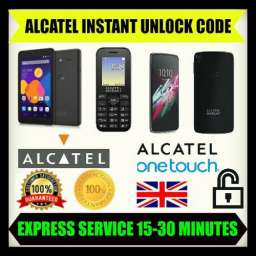 Unlocking code For Alcatel Onetouch 1016,10.16,1016G,10.16G,1016D Instantly 100%